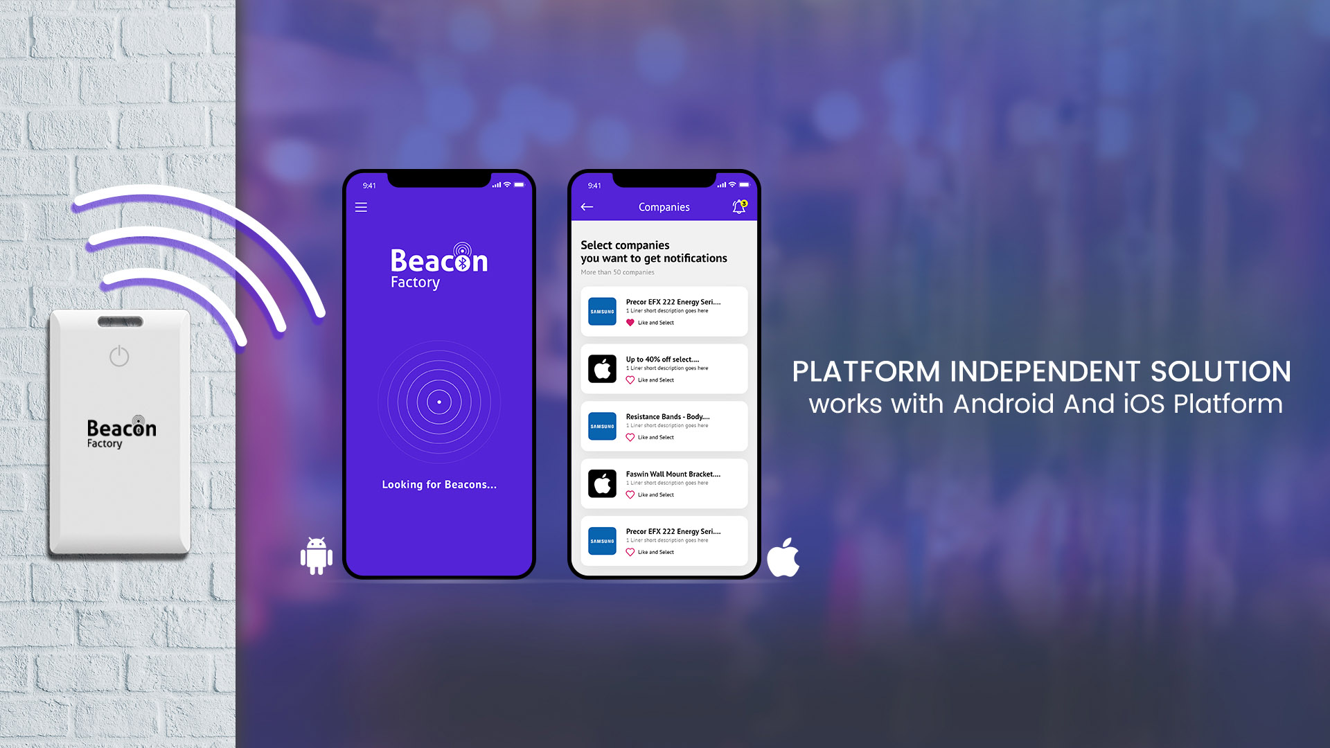 Home Page for Beacon System